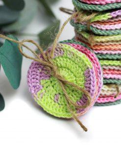 płatki wielorazowe szydełkowe bawełna hand made