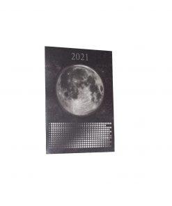 Kalendarz księżycowy 2021 fazy księżyca ecogift.pl eko prezent plakat A2