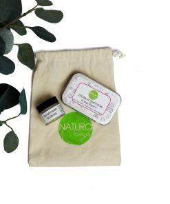 zestaw kosmetyków podróżnych naturologia zero waste eko
