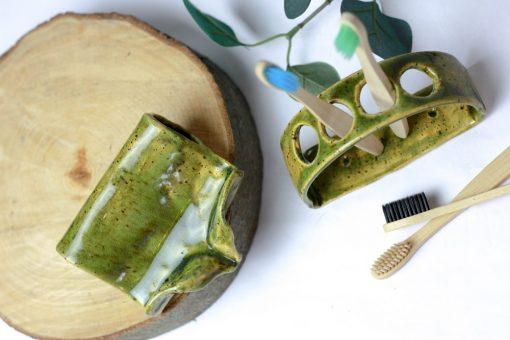 Zestaw komplet ceramiczny do łazienki handmade eko