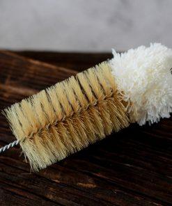 szczotka do butelek naturalne włosie z bawełną