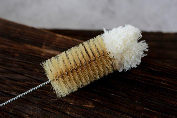 Szczotka do butelek z naturalnym włosiem