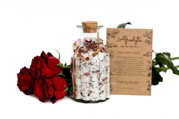 naturalna sól do kąpieli różana eko prezent ecogift.pl Afrodyta