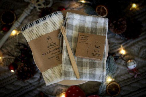 zestaw świąteczny prezentowy woreczki na warzywa