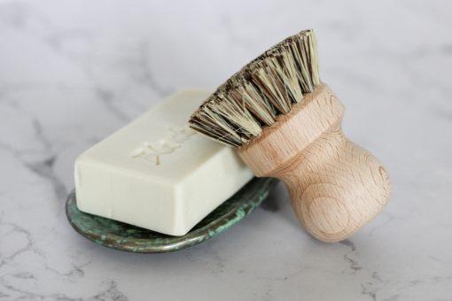 szczotka do garnków z naturalnym włosiem ecogift eko prezent