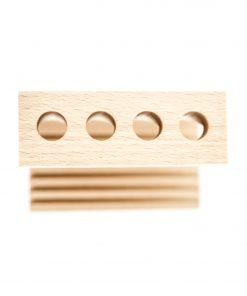 drewniany stojak na 4 szczoteczki do zębów ecogift.pl eko prezent