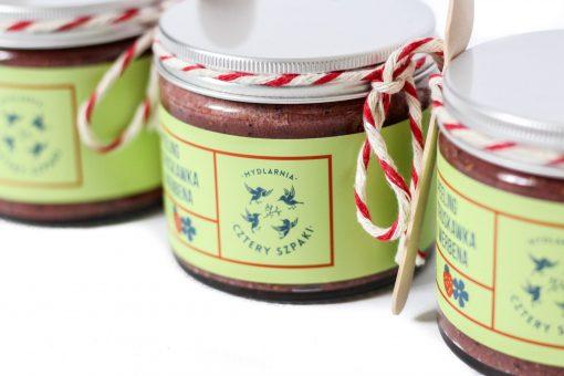 truskawkowy peeling do ciała 4 szpaki ecogift.pl